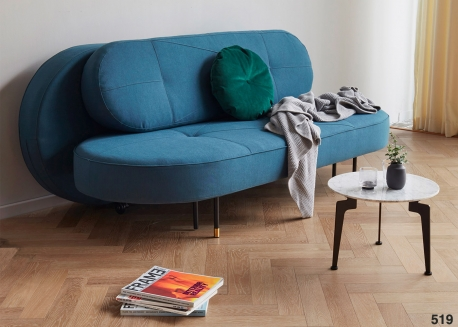 CANAPE BLEU PETROLE DESIGN ET TENDANCE DU DESIGNER PER WEISS - FILUCA PAR INNOVATION LIVING