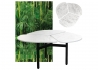 TABLE BASSE D'EXTERIEUR MISS TREFLE EN COMPACT ASPECT MARBRE BLANC - AT ONCE BY AIRBORNE