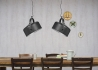 SUSPENSION DESIGN FACON PROJECTEUR EN METAL NOIR - BOMBAY PAR ITS ABOUT ROMI