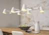 SUSPENSION RAMPE DESIGN L 120 EN METAL NOIR OU BLANC 6 SPOTS ORIENTABLES - BIARRITZ PAR ITS ABOUT ROMI It's About Romi