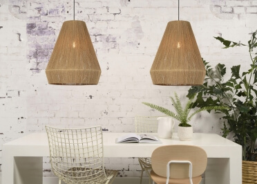SUSPENSION ESPRIT NATURE EN JUTE H 45 OU 60 - IGUAZU PAR GOOD&MOJO