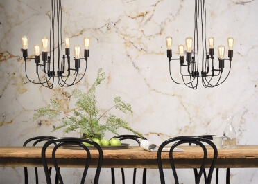 LUSTRE CHANDELIER CONTEMPORAIN 6 ECLAIRAGES EN METAL NOIR SEATTLE - ITS ABOUT ROMI