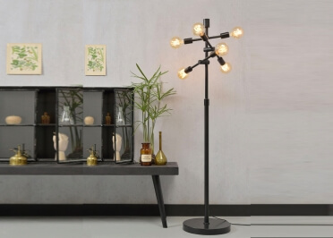 LAMPADAIRE DESIGN INDUSTRIEL EN METAL NOIR H 158 ORIENTABLE - NASHVILLE - ITS ABOUT ROMI