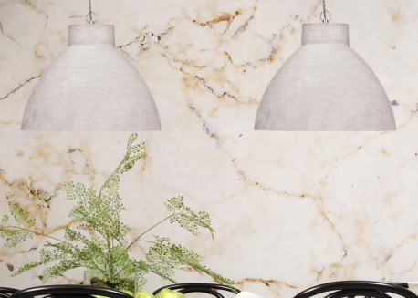 SUSPENSION MODERNE EFFET BETON EN POLYSTONE GRIS CLAIR CORDOBA - IST ABOUT ROMY