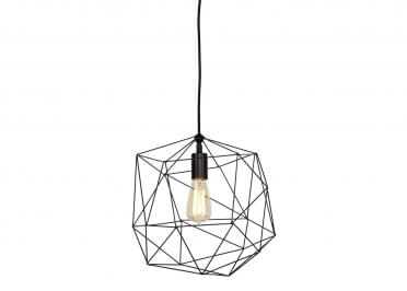 SUSPENSION DESIGN INDUSTRIEL NOIR BLANCHE OU GRIS-VERT MAT EFFET VELOURS LIVERPOOL - ITS ABOUT ROMY