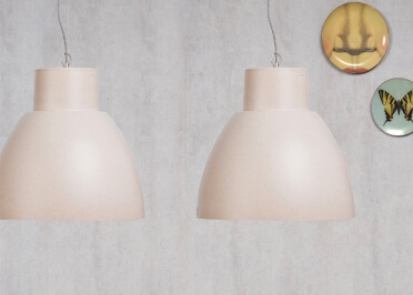 SUSPENSION DESIGN INDUSTRIEL BIODEGRADABLE NOIR GRIS VERT OU BLANC CREME STOCKHOLM - ITS ABOUT ROMI