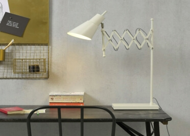 LAMPE DE BUREAU DESIGN INDUSTRIEL AVEC BRAS ETIRABLE NOIR OU BLANC OXFORD - ITS ABOUT ROMI