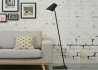 LAMPADAIRE CONTEMPORAIN EN METAL NOIR BLANC OU GRIS CARDIFF - ITS ABOUT ROMI It's About Romi