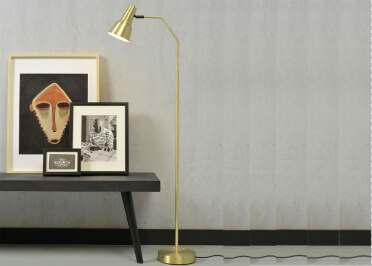 LAMPADAIRE CONTEMPORAIN EN METAL NOIR OU DORE VALENCIA - ITS ABOUT ROMI