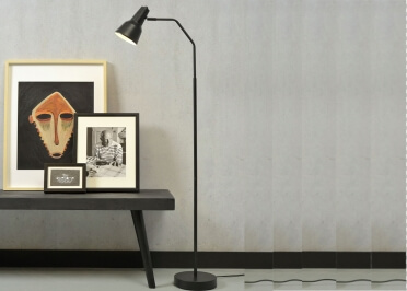 LAMPADAIRE CONTEMPORAIN EN METAL NOIR OU DORE VALENCIA - ITS ABOUT ROMY