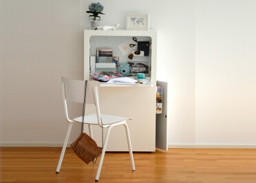 SECRETAIRE - BUREAU DESIGN BLANC IDEAL HOME OFFICE - SMAIDER PAR JANKURTZ