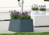 SOCLE POUR PIED DE PARASOL DESIGN EN POLYETHYLENE GRIS CLAIR OU ANTHRACITE - FILL UP PAR JANKURTZ