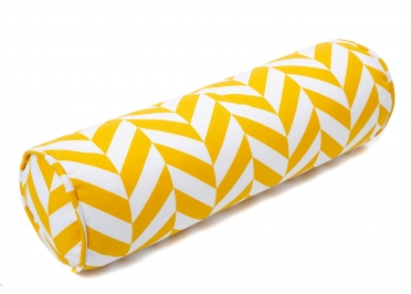 SET DE 2 COUSSINS FORME POLOCHON - ROSE VERT MENTHE OU JAUNE TROPICAL CUSHION - WIGIWAMA