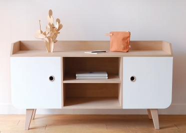 BUFFET BAS TV DESIGN SCANDINAVE - 11 COULEURS AU CHOIX - ZEN PAR LAURETTE