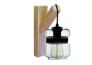 APPLIQUE EN VERRE TRANSPARENT + BRACELET EN PEAU COLORIS VARIES - MORGAN - ANGEL DES MONTAGNES