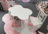 ENSEMBLE 1 TABLE + 2 CHAISES ENFANTS MOTIF NUAGE GRIS BLANC - CLOUD PAR ARATEXTIL Aratextil