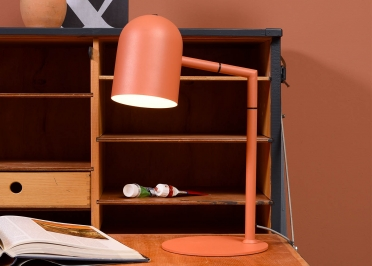 LAMPE DE BUREAU CONTEMPORAINE EN METAL NOIR SABLE OU TERRACOTTA - MARSEILLE PAR IT'S ABOUT ROMI