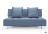 CANAPE CONVERTIBLE GRIS SANS ACCOUDOIRS DESIGN SCANDINAVE LONG HORN PAR INNOVATION LIVING