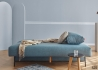 CANAPE DE QUALITE DESIGN DANOIS CONVERTIBLE EN LIT LIT 150x200 BLEU OU GRIS OSVALD - INNOVATION LIVING