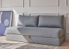 CANAPE MODERNE GRIS OU BLEU CONVERTIBLE EN LIT 80X200 COUCHAGE QUOTIDIEN - IDEAL STUDIO - WALIS PAR INNOVATION LIVING