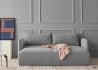 CANAPE DESIGN GRIS CONVERTIBLE EN LIT 140x200 AVEC LARGE COFFRE DE RANGEMENT - SALLA PAR INNOVATION LIVING Innovation Living