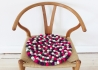 LOT DE 4 COUSSINS DE CHAISE OU SETS DE TABLE EN BILLES DE LAINE Ø 38 cm 17 COULEURS - CHAIR PADS - WOOLDOT