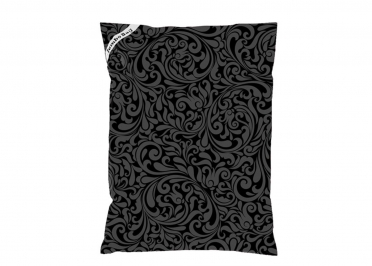 COUSSIN DE SOL GEANT MOTIF ARABESQUE NOIR - THE PRINTED BAG - JUMBO BAG