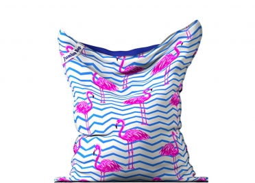 POUF GEANT MOTIF FLAMANT ROSE - THE PRINTED BAG FLAMINGO - JUMBO BAG
