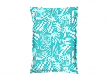 POUF GEANT MOTIF FEUILLES VERTES - THE PRINTED BAG PALM - JUMBO BAG