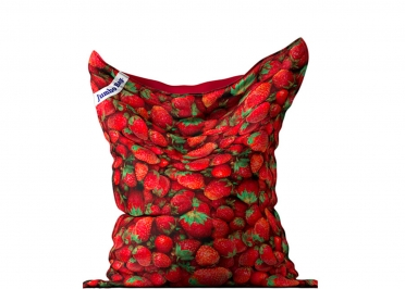 POUF GEANT MOTIF FRAISES - THE PRINTED BAG STRAWBERRY - JUMBO BAG