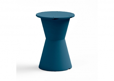 TABLE BISTROT OUTDOOR EN POLYETHYLENE ET HPL - COULEURS AU CHOIX D90 OU 90x90 - DOT PAR LYXO