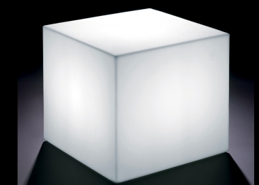 POUF LUMINEUX CUBIQUE OU TABLE D'APPOINT 40x40 OU 45x45 - ECLAIRAGE LED NOMADE - HOME FITTING PAR LYXO
