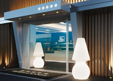 LAMPADAIRE D'EXTERIEUR DESIGN ECLAIRAGE BLANC LED FILAIRE - MY BIG LIGHT PAR LYXO