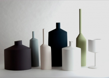 VASE DESIGN EN CERAMIQUE FORMES ET COLORIS VARIES - COLLECTION FABBRICHE PAR KOSE