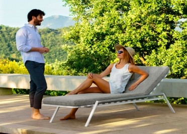TRANSAT OU CHAISE LONGUE DESIGN 3 COULEURS - COTTAGE PAR TALENTI