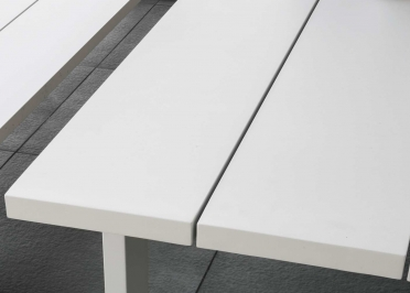 TABLE BASSE DESIGN EN ALUMINIUM L 270 CM ESSENCE TALENTI
