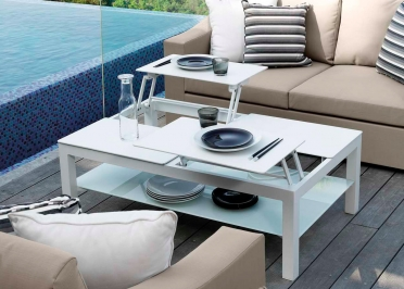 TABLE BASSE ORIGINALE ET DESIGN BLANCHE OU TAUPE CHIC PAR TALENTI