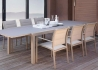 CHAISES DE TABLE 4 UNITES DESIGN EMPILABLE BLANC TAUPE GRIS OU MOKA TOUCH PAR TALENTI ITALIE