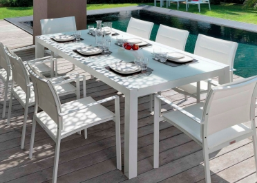 CHAISES DE TABLE 4 UNITES DESIGN EMPILABLE BLANC TAUPE GRIS OU MOKA TOUCH  PAR TALENTI