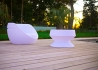 TABLE BASSE LUMINEUSE / POUF LUMINEUX ECLAIRAGE NOMADE - BOON'S PAR LINK