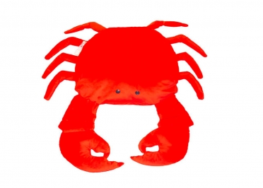 COUSSIN ORIGINAL ET DECORATIF EN FORME DE CRABE VELOURS ROUGE PAR MX HOME