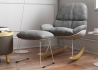 ROCKING CHAIR GRIS DESIGN SCANDINAVE CONFORTABLE ET ELEGANT - PETILIA PAR GARAGEIGHT