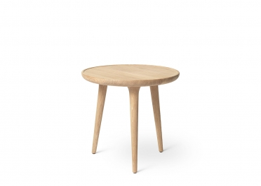TABLE D'APPOINT DESIGN SCANDINAVE EN BOIS DE CHENE NATUREL NOIR OU GRIS 4 DIAMETRES - ACCENT PAR MATER