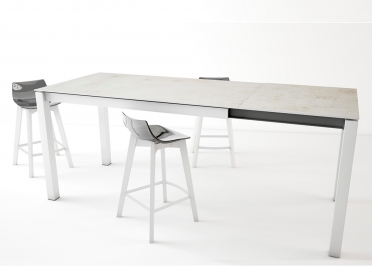 TABLE HAUTE - TABLE SNACK EXTENSIBLE EN DEKTON COULEURS ET TAILLES VARIEES DE 8 A 12 PLACES - LAKERA PAR CANCIO