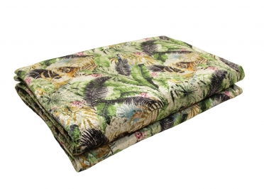 PLAID OU COURTE POINTE THEME VEGETAL  3 TAILLES -TETE D'OR PAR ANGEL DES MONTAGNES