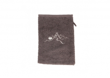 GANT DE TOILETTE - VENDU PAR 6 - ROUGE GRIS OU TAUPE - NEW MOUNTAIN - CREATIONS LEONIE'S