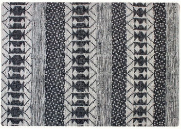TAPIS CONTEMPORAIN MOTIFS GRAPHIQUES EN FIBRES RECYCLEES IVOIRE-GRIS  ZAMBEZI - THE RUG REPUBLIC