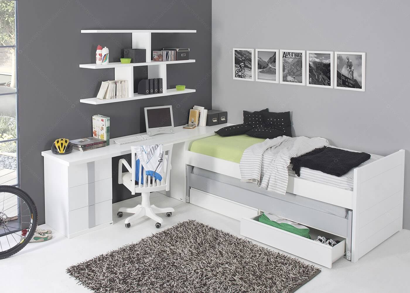 comment am nager un studio une chambre d tudiant tout en optimisant l espace. Black Bedroom Furniture Sets. Home Design Ideas